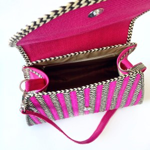 Handmade wicker Canasto handbag EME SinuForYou _inside