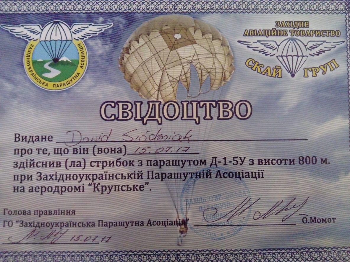 Skok spadochronowy Ukraina