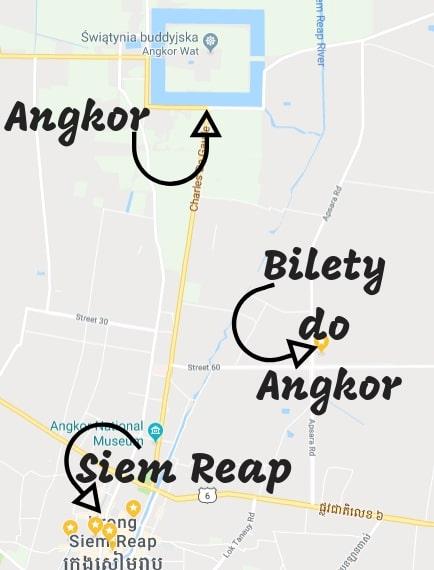 Atrakcje Siem Reap Mapa