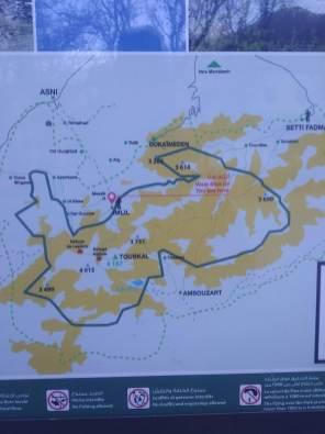 Mapa szlaków na Toubkal