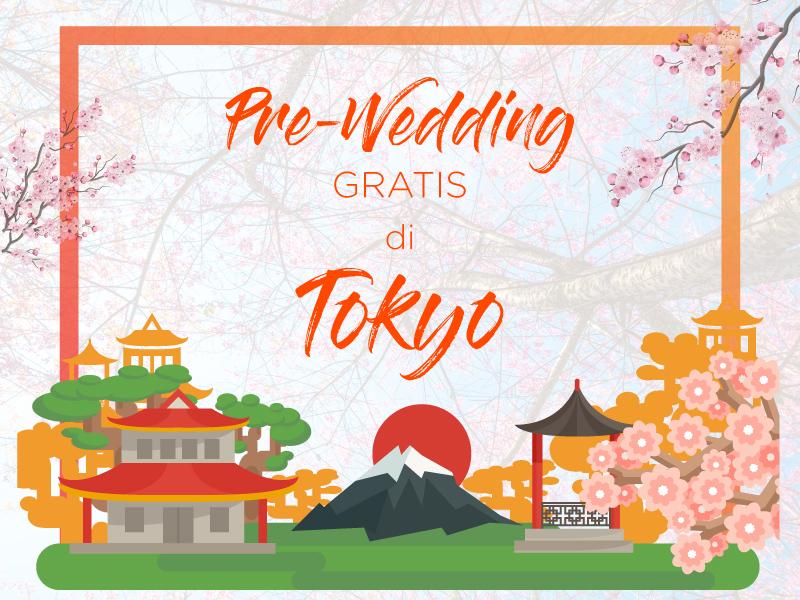 foto pre-wedding gratis di tokyo jepang