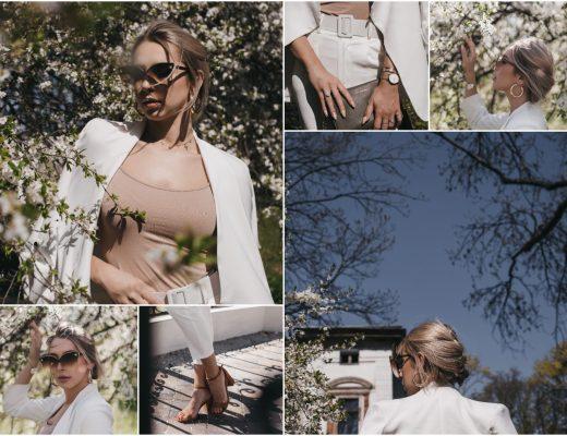 Jak nosić biały garnitur damski?