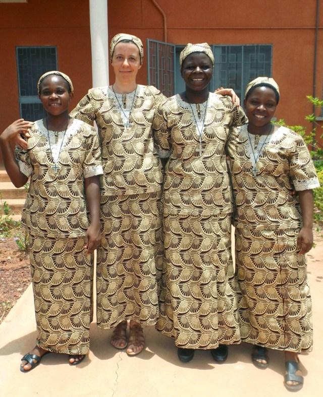 Pierwsze śluby zakonne wBobo Dioulasso wBurkina Faso