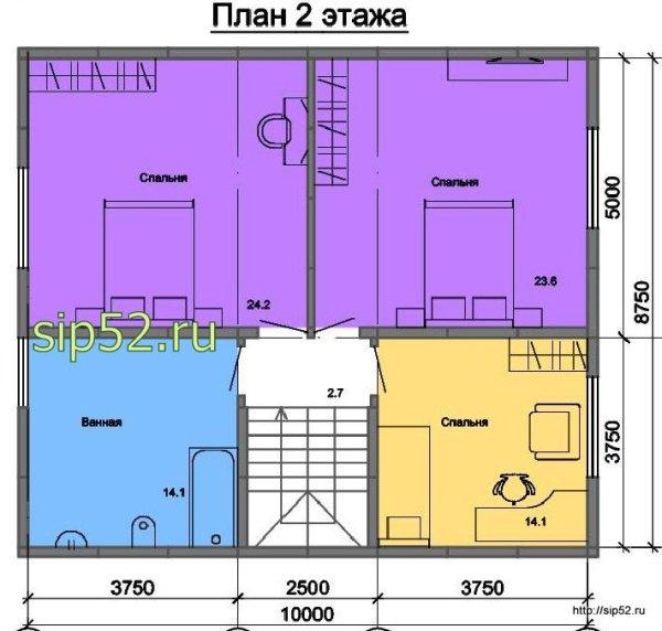 Планировка Дома 7 На 8 Двухэтажный Фото