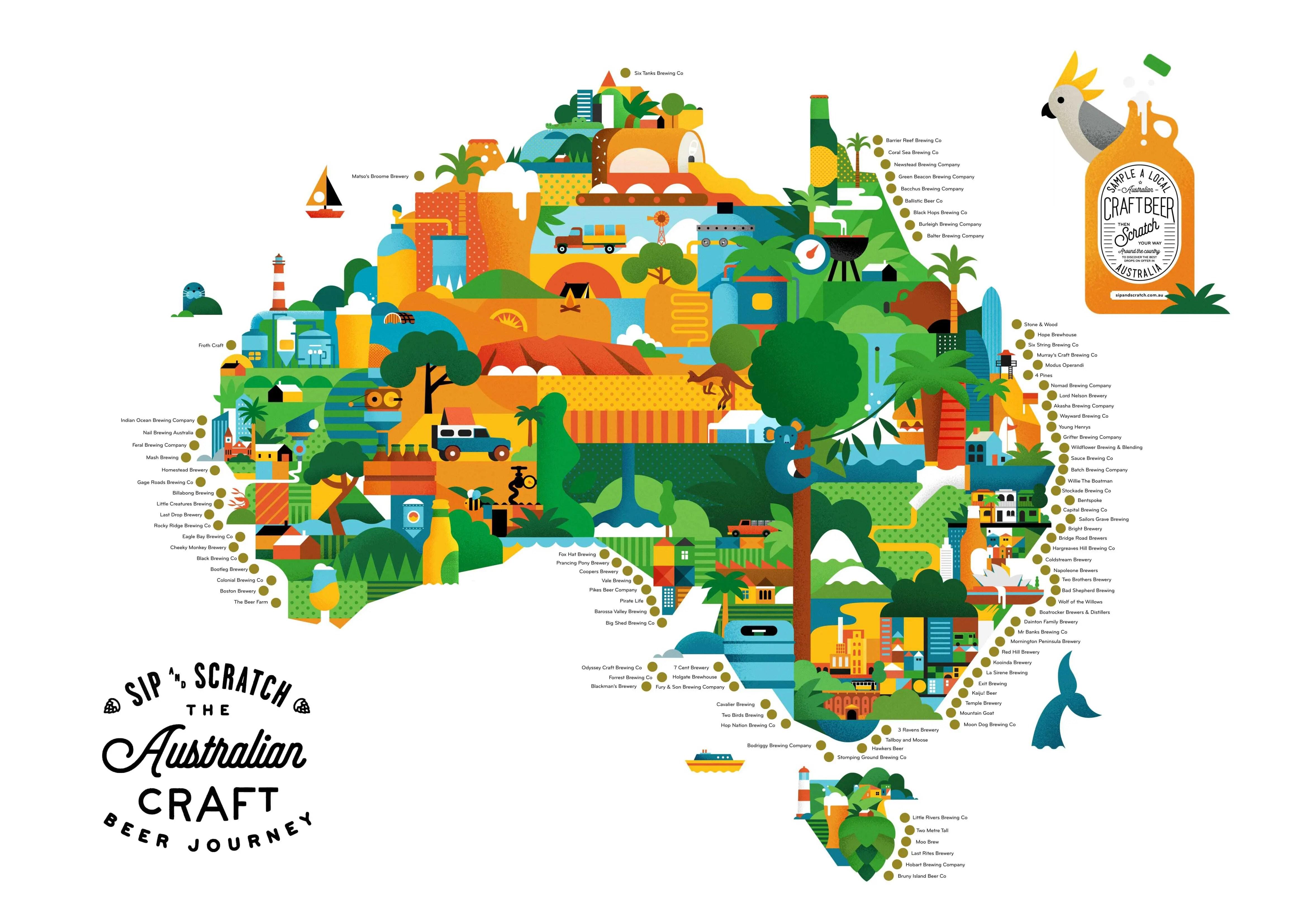 A2 Sip and Scratch Map Australia – Sip and Scratch Maps Australia