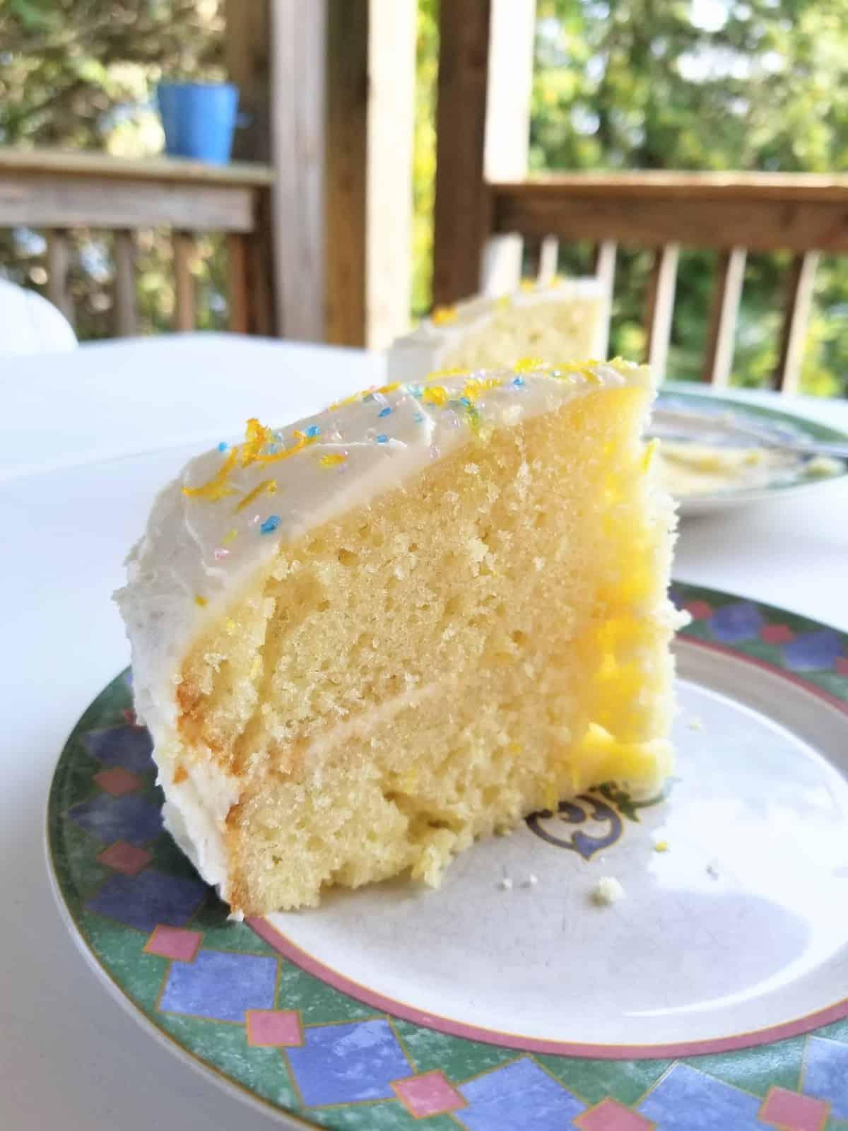 Lemon Cake with Zesty Buttercream Frosting