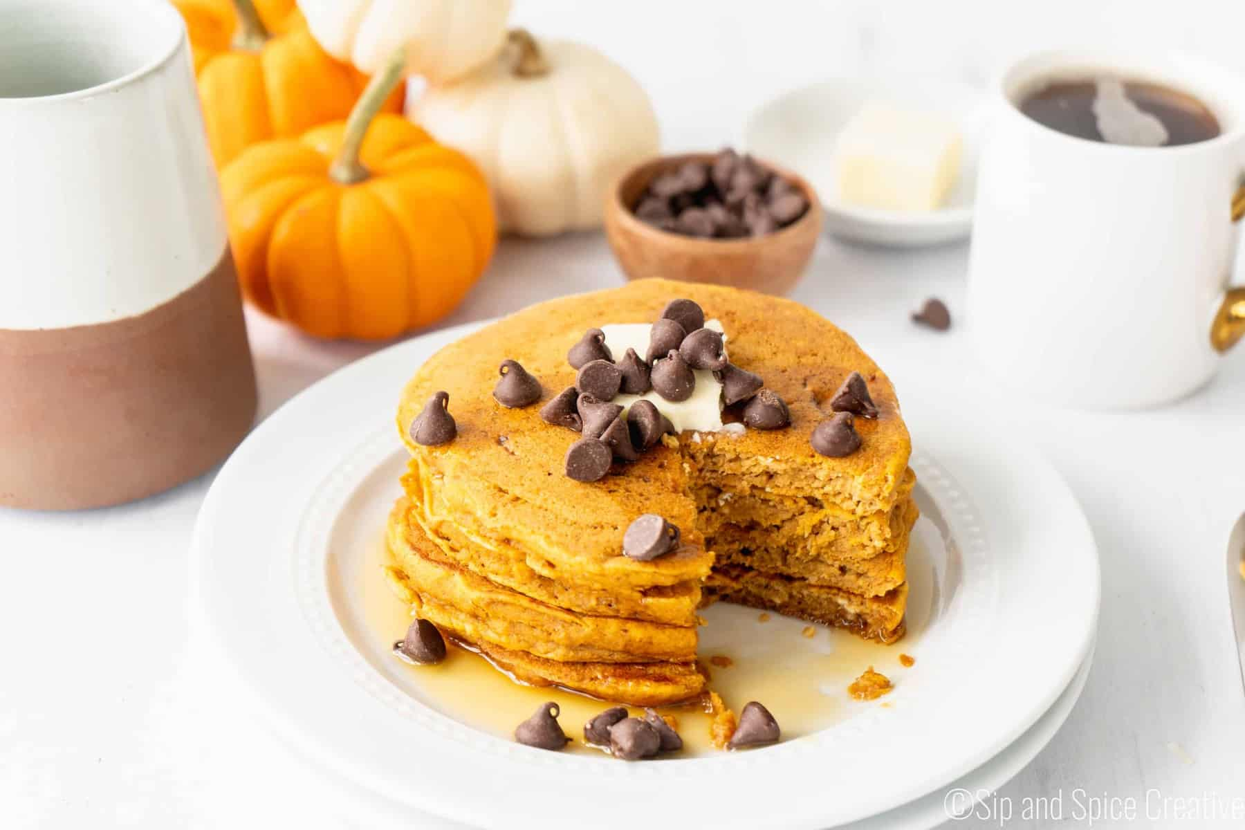 Easy Pumpkin Pancakes (Healthier)