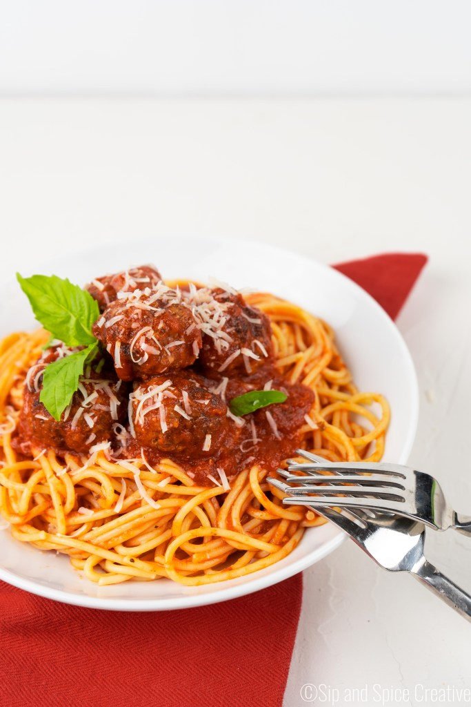 Classic Spaghetti and Meatballs | Sip and Spice