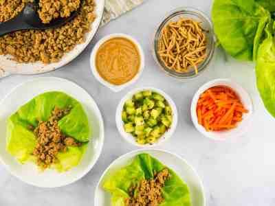 Thai Turkey Lettuce Wraps   Sip + Spice