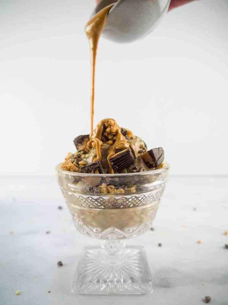 Peanut Butter Nice Cream | Sip + Spice