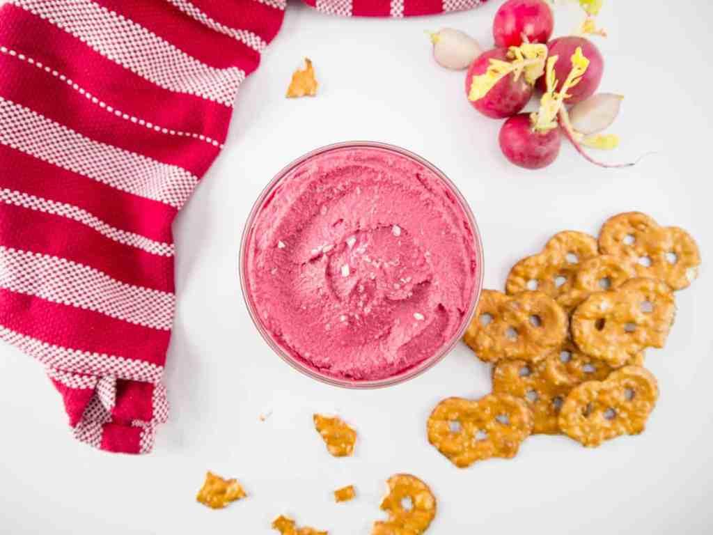 Hot Pink Hummus | Sip + Spice