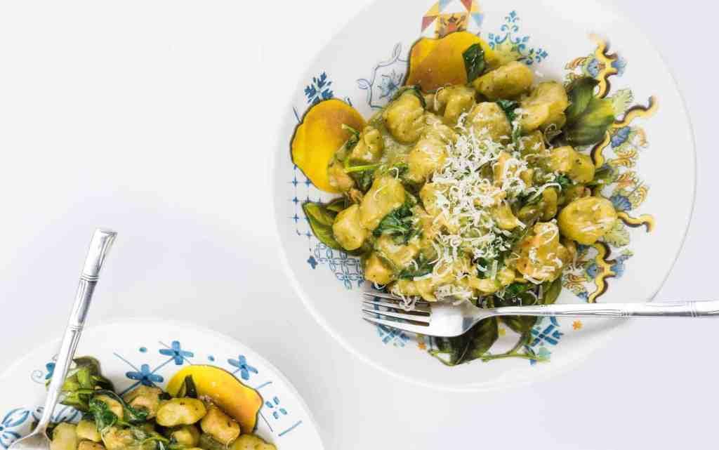 Pesto Alfredo Gnocchi | Sip + Spice