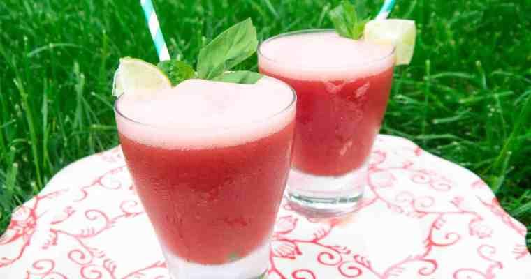 Watermelon Basil Vodka Cooler