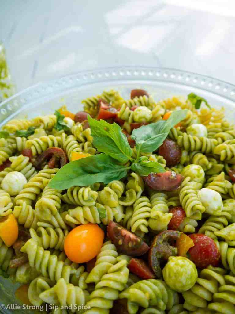 Caprese Pasta Salad   Sip and Spice