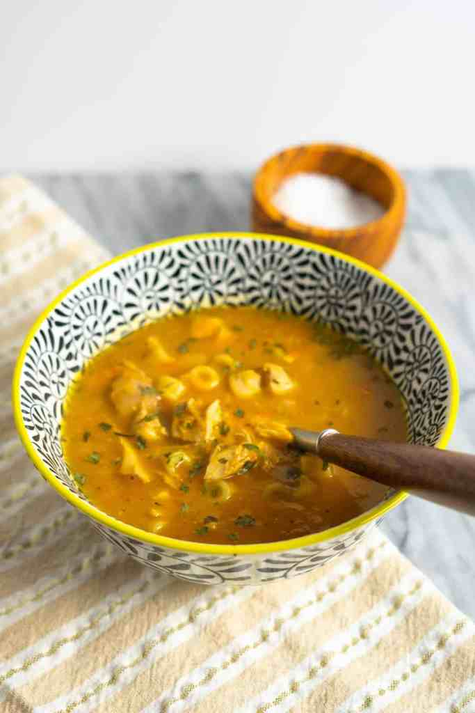 Leftover Roast Chicken Soup | Sip and Spice