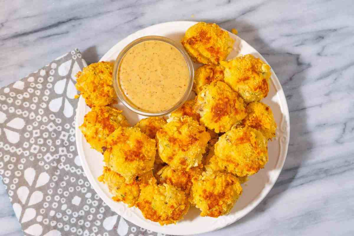 Leftover Mashed Potatoes Croquettes with Ham and Cheddar Cheese