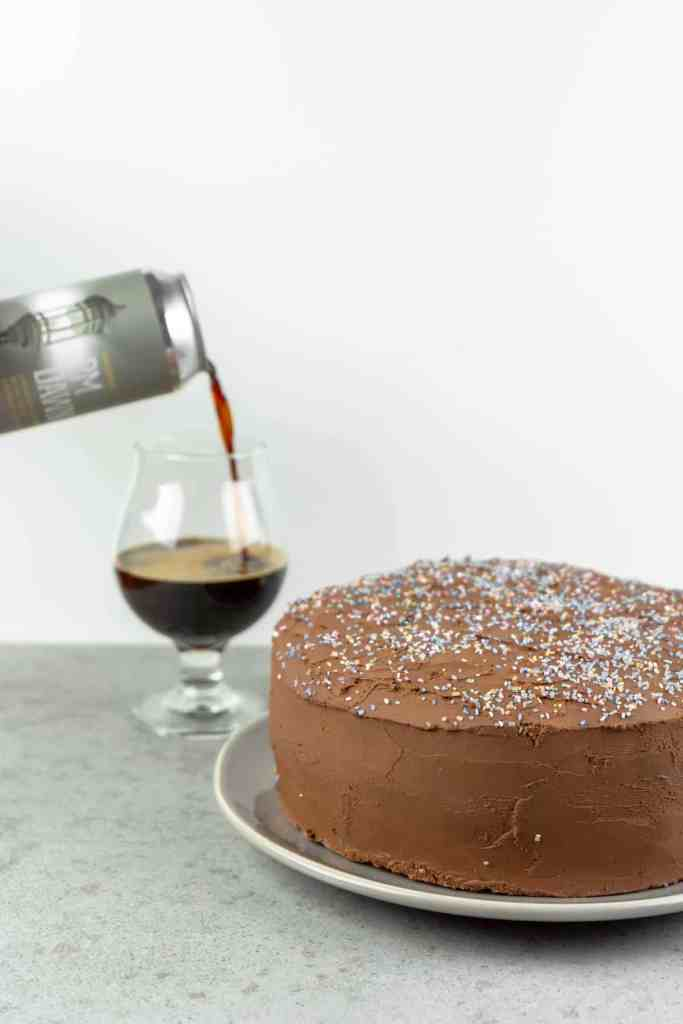 Chocolate Coconut Stout Cake with Whipped Chocolate Ganache Frosting   Sip and Spice