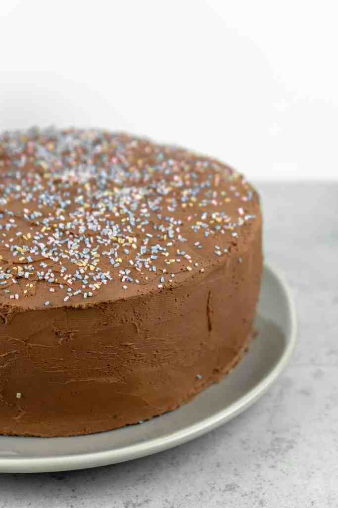 Chocolate Coconut Stout Cake with Whipped Chocolate Ganache Frosting | Sip and Spice