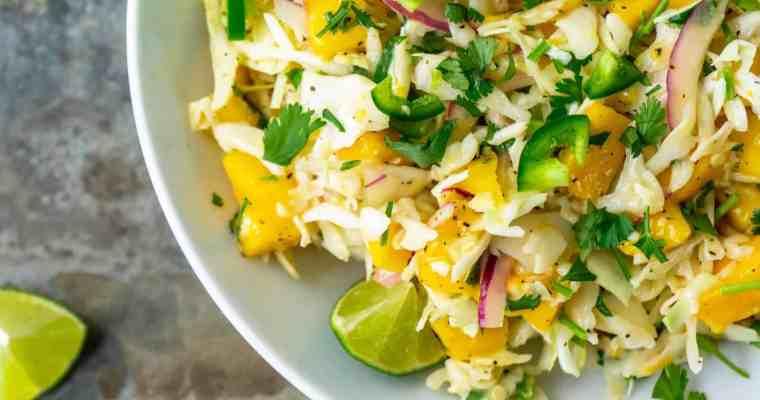 15-Minute Spicy Mango Slaw