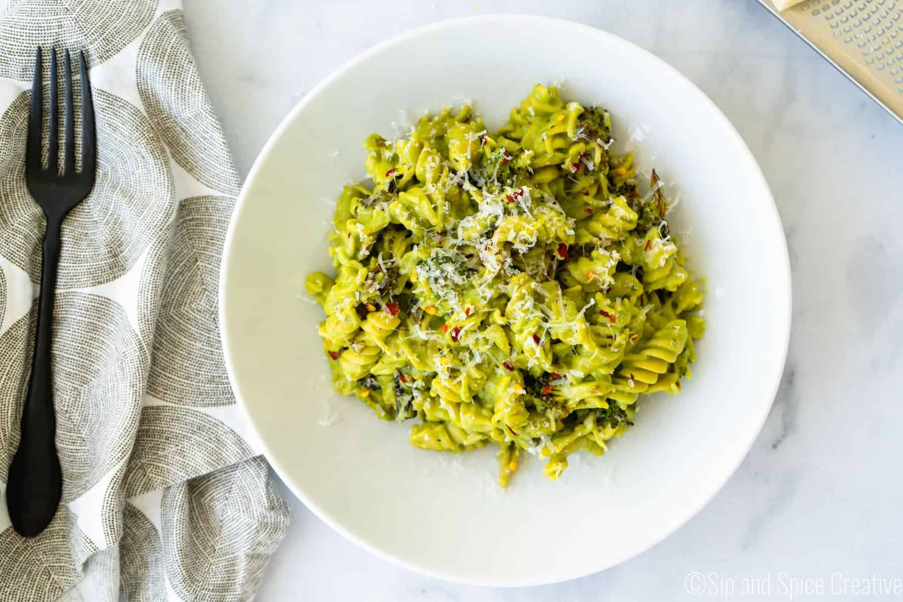 Chickpea Pasta with Roasted Broccoli Sauce