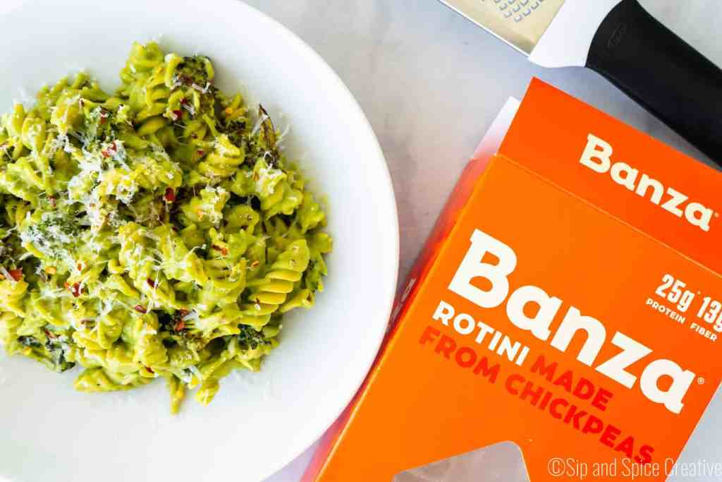 Chickpea Pasta with Roasted Broccoli Sauce | Sip and Spice