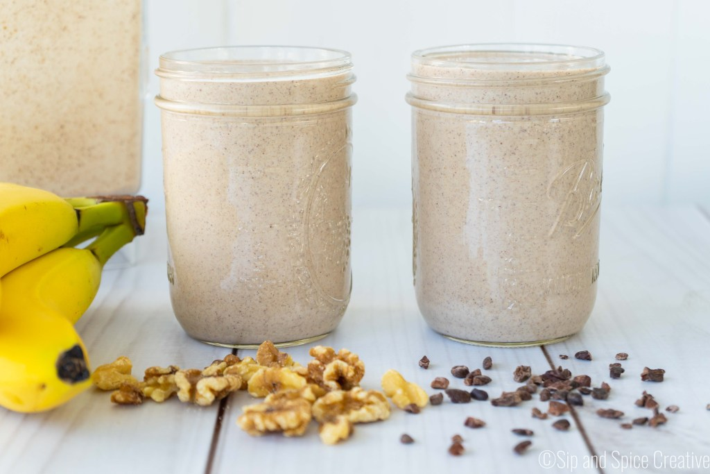 Vegan Chunky Monkey Smoothie Recipe | Sip and Spice