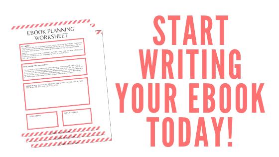 eBook Planning Worksheet