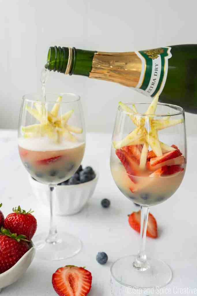 Red White and Blue Mimosas | Sip and Spice