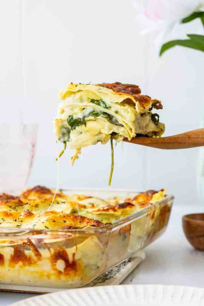 Spinach Artichoke Lasagna | Sip and Spice