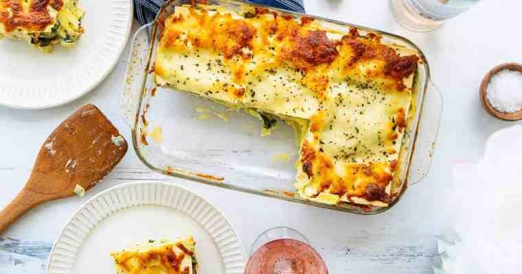 Vegetarian Spinach Artichoke Lasagna