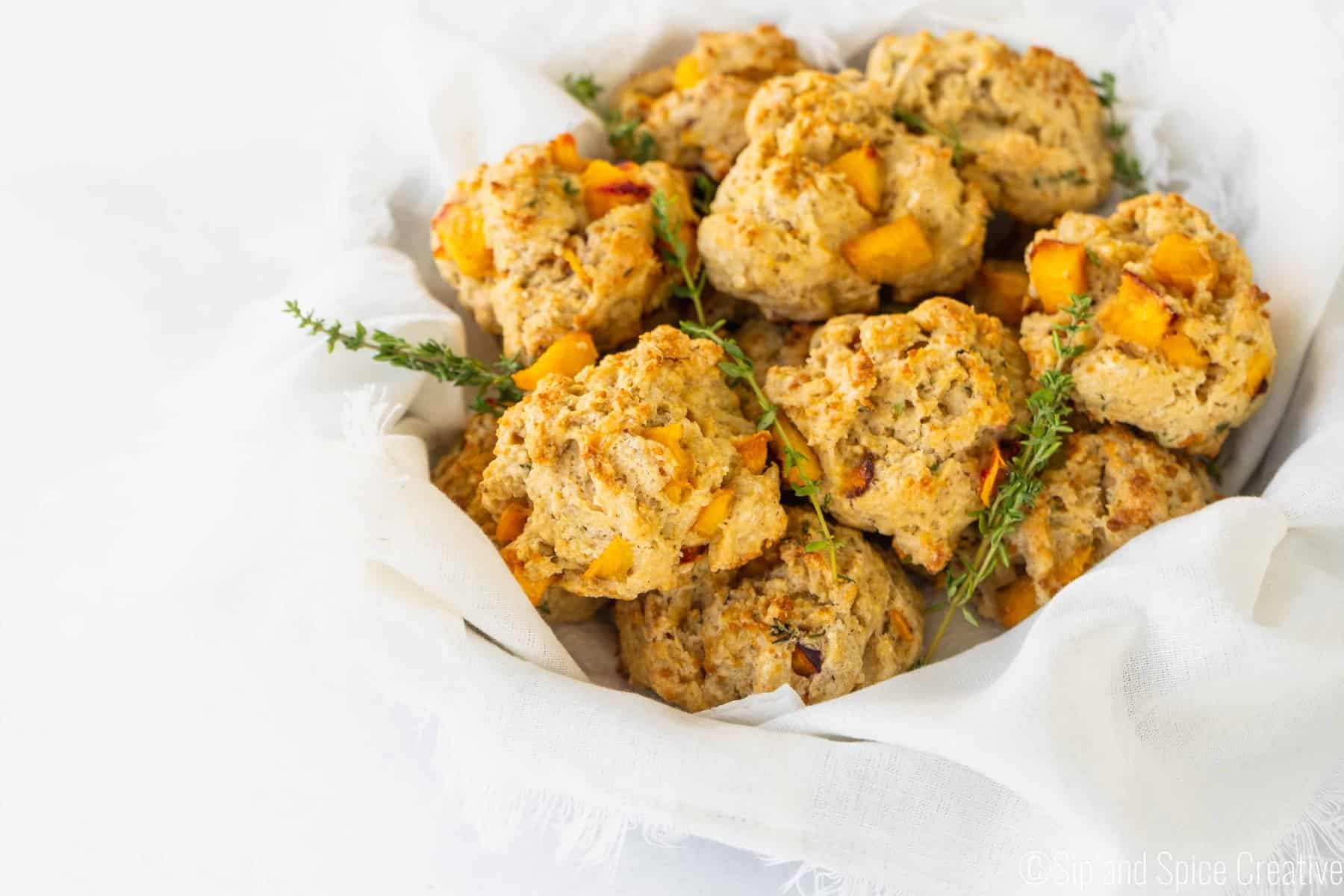 Peach Scones with Thyme and Black Pepper