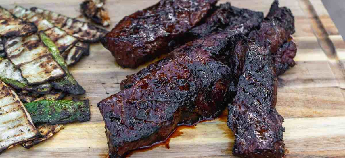 Spicy Honey Bourbon Marinated Steak Tips