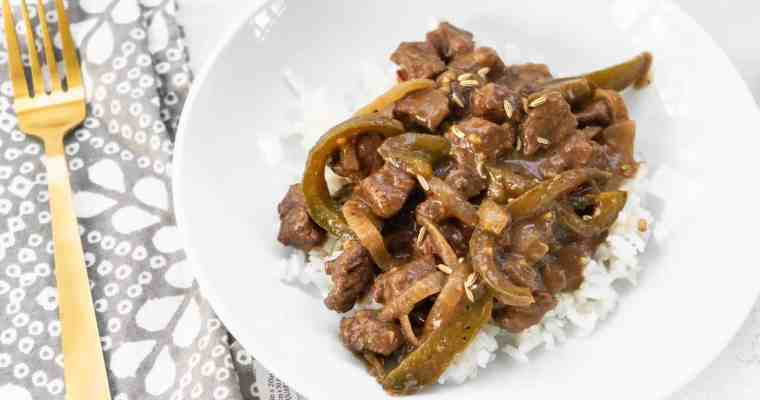 Easy Italian Pepper Steak and Rice