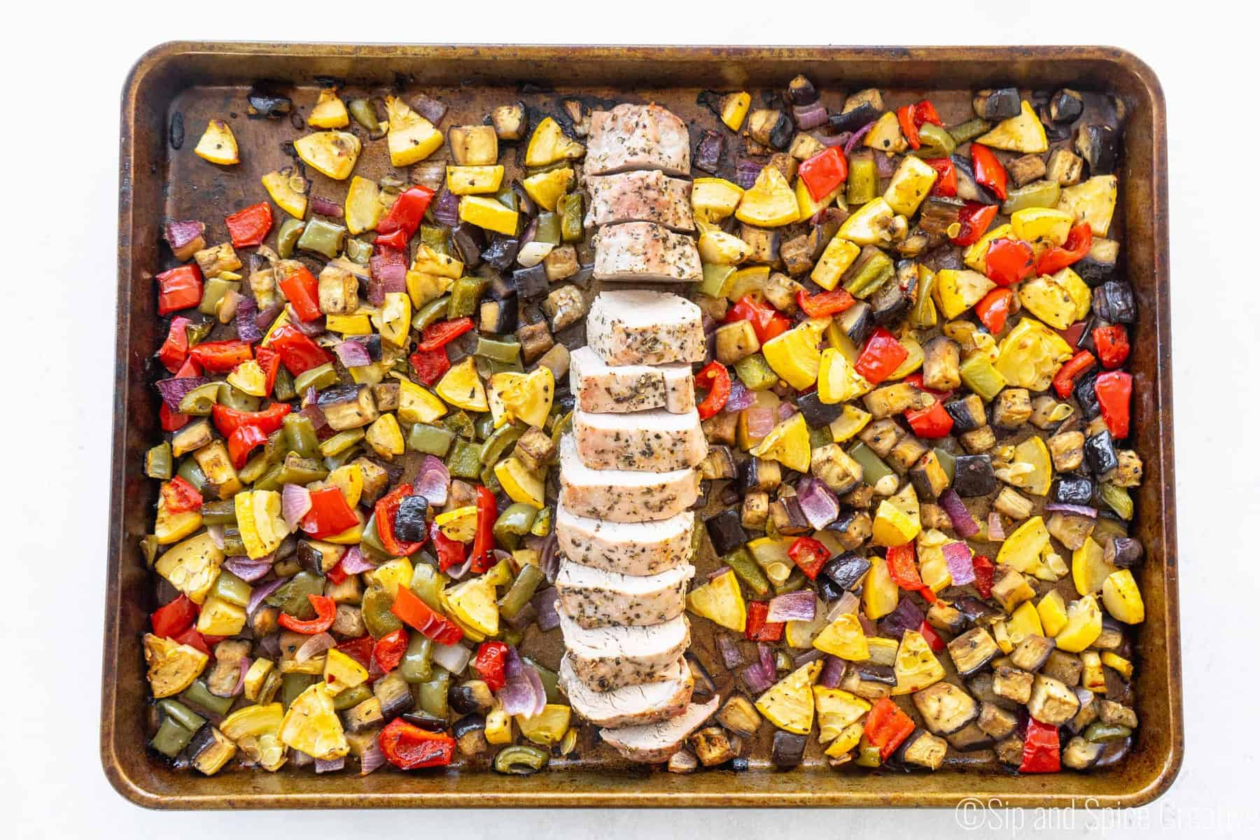 Sheet Pan Pork Tenderloin with Balsamic Roasted Vegetables