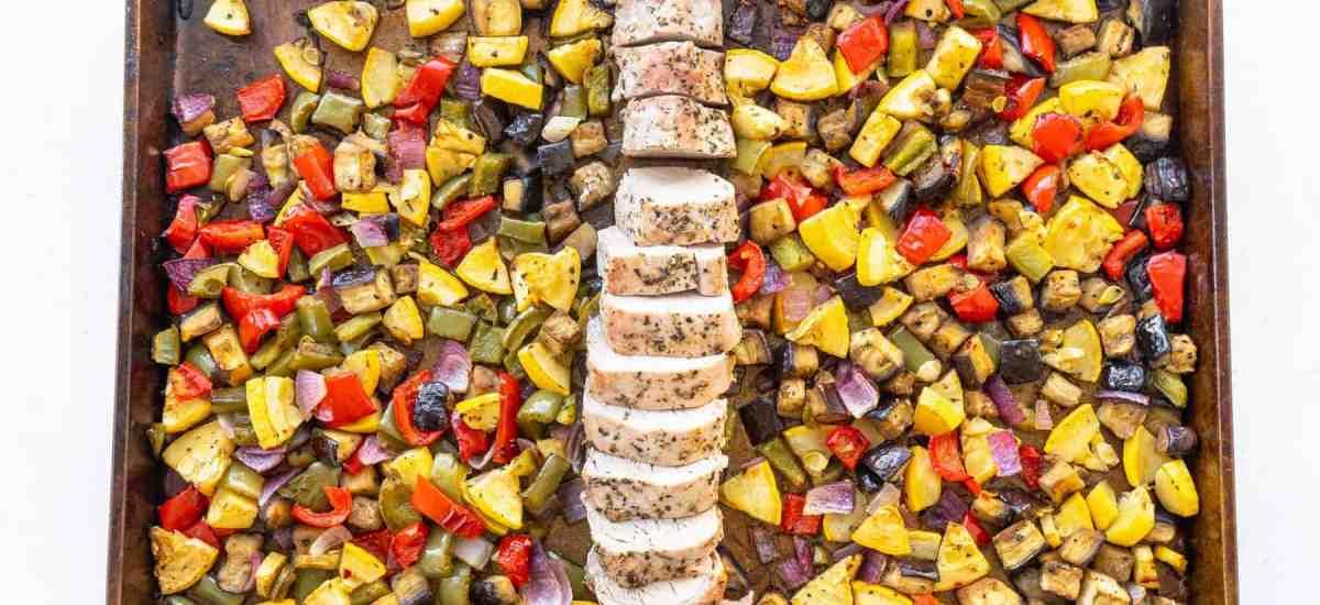 Sheet Pan Pork Tenderloin with Balsamic Roasted Vegetables