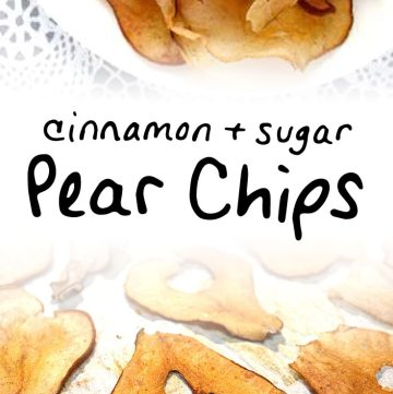Oven baked pear chips with cinnamon and sugar via https://www.pinterest.com/pin/43417583887237042/