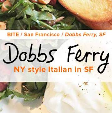 Dobbs Ferry: NY style Italian restaurant in Hayes Valley, San Francisco. - #balsamiccherries #burrata