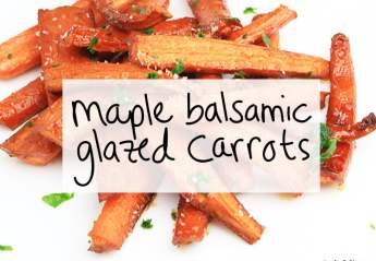 maple balsamic glazed carrots | https://sipbitego.com/maple-balsamic-glazed-carrots | #carrots #recipe