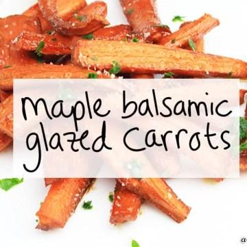 maple balsamic glazed carrots   https://sipbitego.com/maple-balsamic-glazed-carrots   #carrots #recipe
