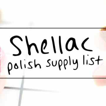 Get the list of supplies to Shellac manicure yourself at home - https://sipbitego.com/supplies-to-shellac-manicure-yourself-at-home #manicure #prettynails #diybeauty