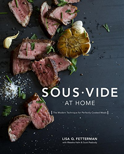 Cover of sous vide at home cookbook for beginner sous vide enthusiasts