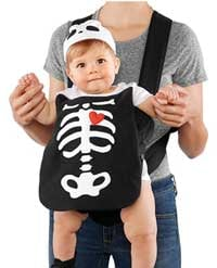 mom and baby skeleton halloween costume