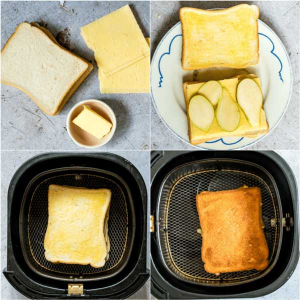 Grilled cheese ideas in the air fryer with pear by recipes-from-a-pantry