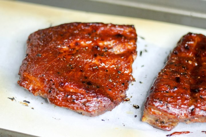 spare ribs aka sous vide beef ribs finished in the oven broiler