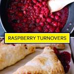 homemade raspberry turnovers from scratch