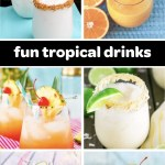 easy tropical drinks pin
