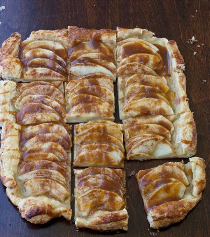 Caramel apple puff pastry recipe idea