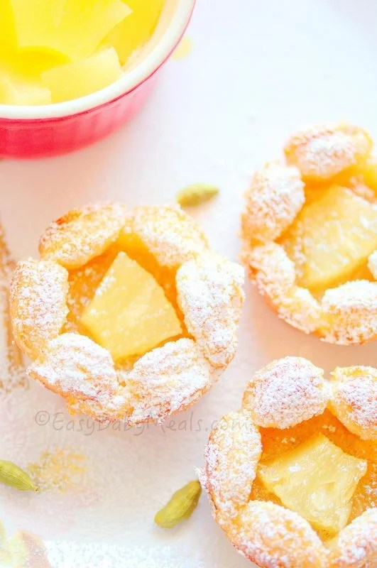 puff pastry recipe idea for a party with pineapple