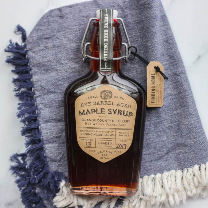 gourmet bourbon aged maple syrup gift for foodies