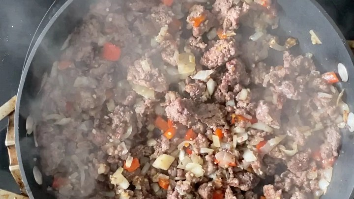 Italian ground beef filling for shells